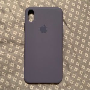 💟 LAVENDER GRAY SILICONE CASE FOR IPHONE XS MAX💟